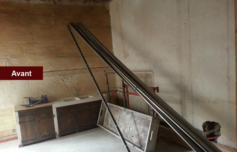 cuisine-avant mtr maconnerie rénovation Rénovation de qualité, Arles avec MTR, 13200 Arles