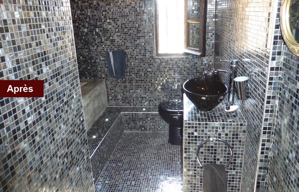 rénovation salle de bain toilettes Emaux faience mtr maconnerie